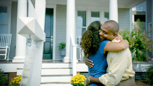 Couple in front of New Home 03